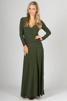 Avery Maxi Dress - Olive by Paper Scissors Frock