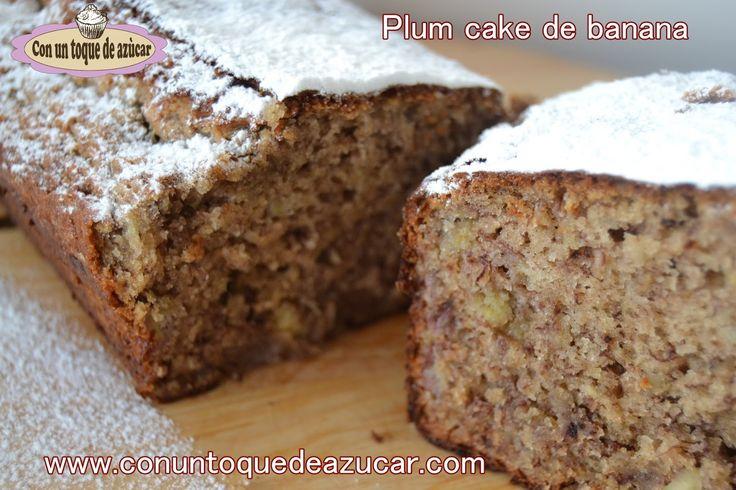 BUDÍN DE BANANA Y NUECES (PLUM CAKE DE BANANA Y NUECES) - Con un toque de azúcar