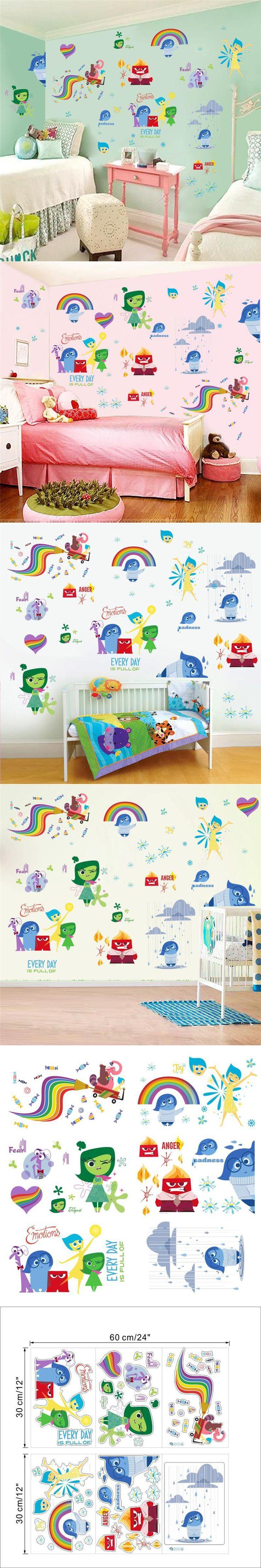 IO007& Mind Wars joy sadness anger disgust fear kids bedroom gift cartoon movie wall sticker diy children home removable decals