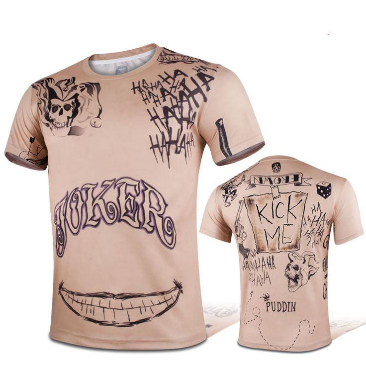 cool Short Sleeves Sport T-shirt Suicide Squad Jared Leto Joker Tattoo  -   #jokerbuymerchandise #jokerbuyonline #jokergifts #jokerhoodieamazon #jokermerch #jokermerchamazon #jokermerchcosplay #jokermerchebay #jokermerchgear #jokermerchuk #jokermerchandise #jokermerchandiseamazon #jokermerchandiseaustralia #jokermerchandisecanada #jokermerchandiseindia #jokermerchandisenz...