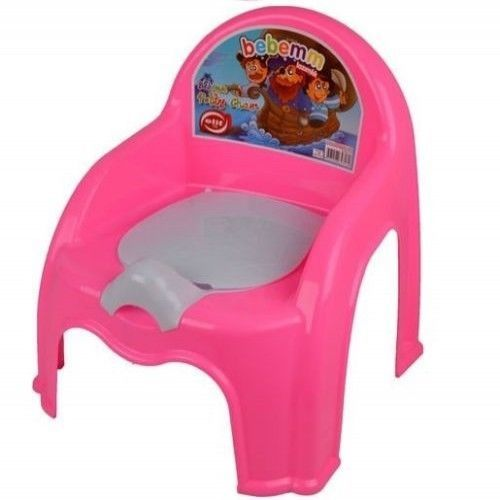 Potty Chair Seat Pink Training Toilet Kids Toddler  Easy Clean Removable Lid