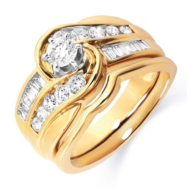 1 Carat TW Diamond Bridal Set