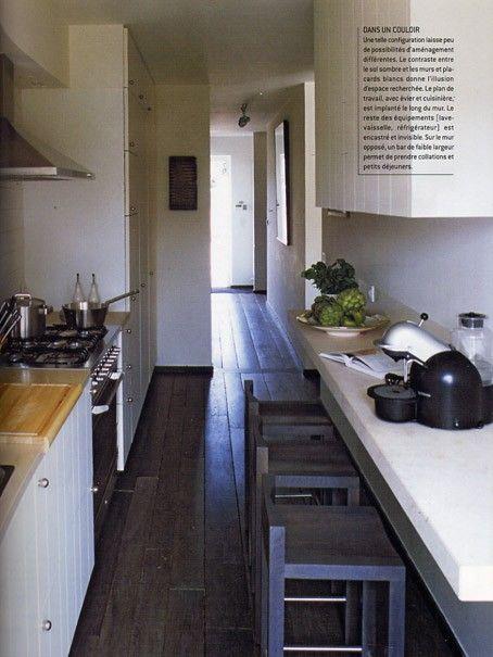 les 25 meilleures id es de la cat gorie cuisine en longueur sur pinterest cuisine moderne. Black Bedroom Furniture Sets. Home Design Ideas