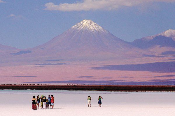 There are few places in the world that are as impressive as the Atacama desert. It's a place of awesome extremes — it's the driest desert in the world, yet it's surrounded by the snow-capped Andes. And while there are the requisite towering sand dunes, the landscape is unbelievably varied. There are geysers, salt flats, active volcanoes, canyon-like expanses and a very lush oasis. Fun fact: Most of the world's copper comes from this desert region.Photo courtesy of Turisimo Chile