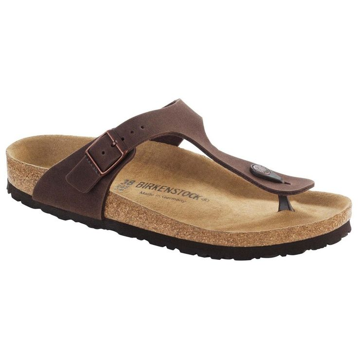 BIRKENSTOCK Sandal Gizeh Mikrofaser Cocoa Brown Schmal 847673 Braun