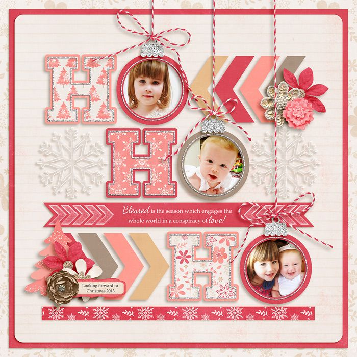 #papercraft #christmas #scrapbook #layout