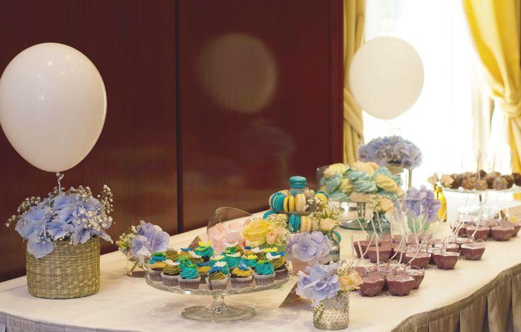 Candy bar party arrangements #millefleur #babyboy #party #baptism