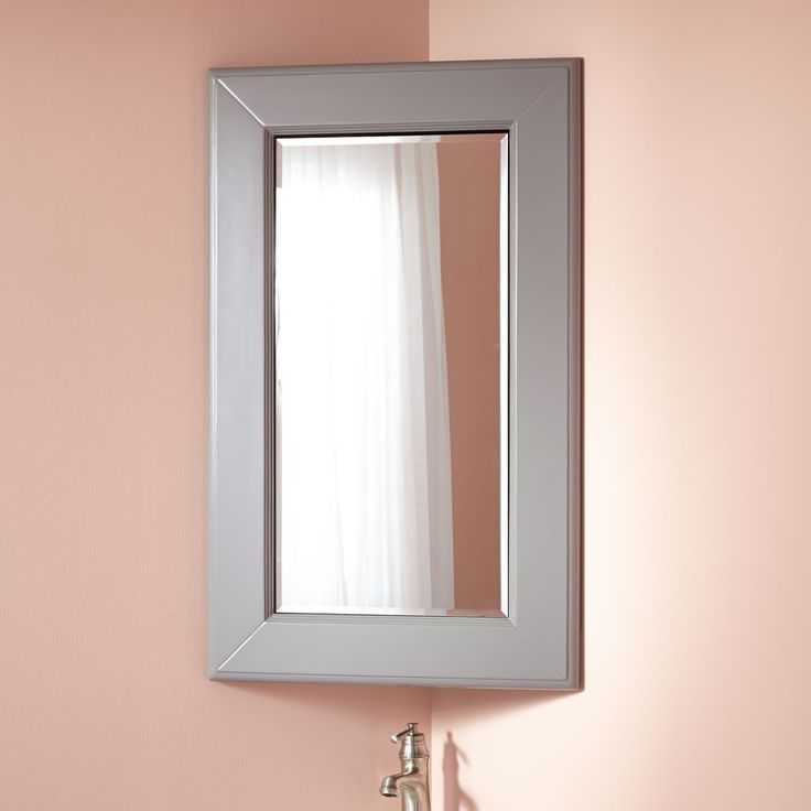 Best 25 corner mirror ideas on pinterest small full - Small corner bathroom cabinet with mirror ...