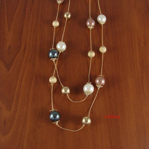 Bead necklace gifts christmas gift gift necklace by LarkKing