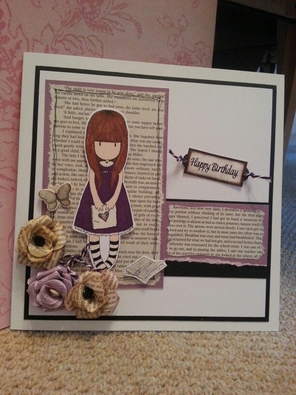 Stamps For Card Making Ideas Part - 47: Used Gorjuss Stamps And Pages From Jane Eyre. Find This Pin And More On Cardmaking  Ideas ...