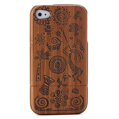 carving patroon bamboe Case voor iPhone 4 / 4s – € 15.45