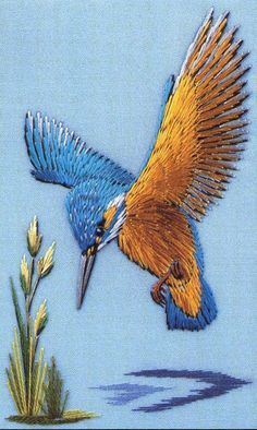 ♒ Enchanting Embroidery ♒ embroidered hummingbird