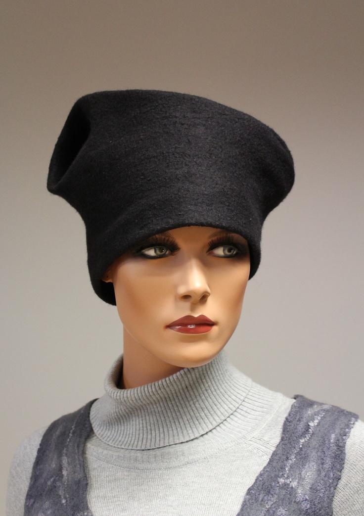 "Felt hat ""black madam"". €40.00, via Etsy."
