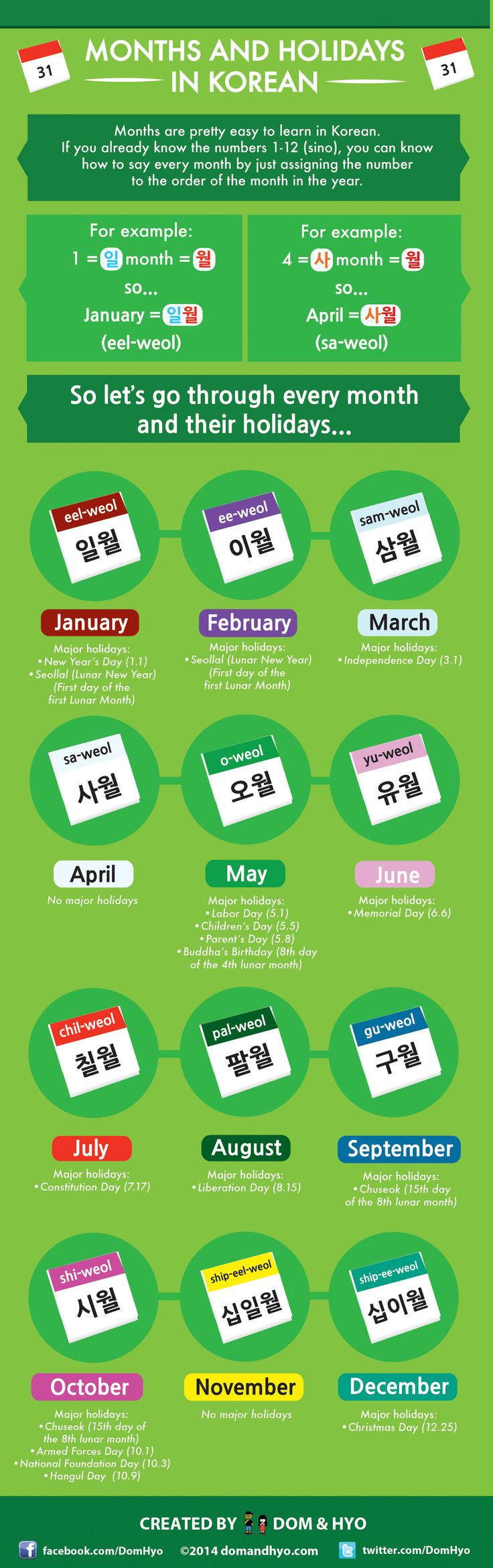 Know Your Korean Months & Holidays with this Simple Infographic