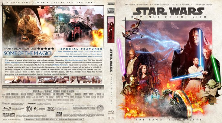 Star Wars: Episode III - Revenge Of The Sith Blu-ray Custom Cover