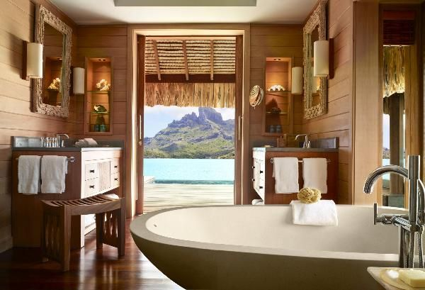 Where to vacation for the winter holiday? Check out the perfect island of Bora Bora with its warm weather and sandy beaches, the Four Seasons Hotel is the optimal place for rest and relaxation.