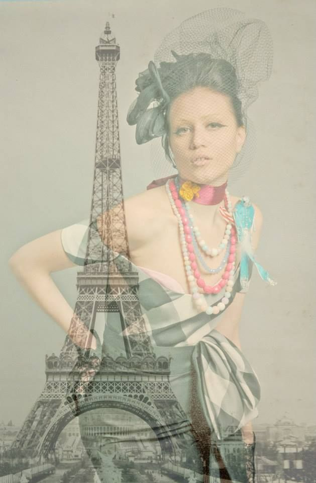"""Spring in Paris"" collection Photos - concept - styling: Takis Tsadilis Production – Pericles Kondylatos Jewellery by Pericles Kondylatos Dress by Vassilis Zoulias make up : Christina Ermidis for Make up Lab Hair styling: Renos Politis Model: Noelle Kondylatou"