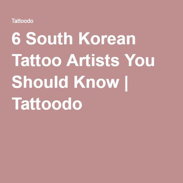 6 South Korean Tattoo Artists You Should Know | Tattoodo