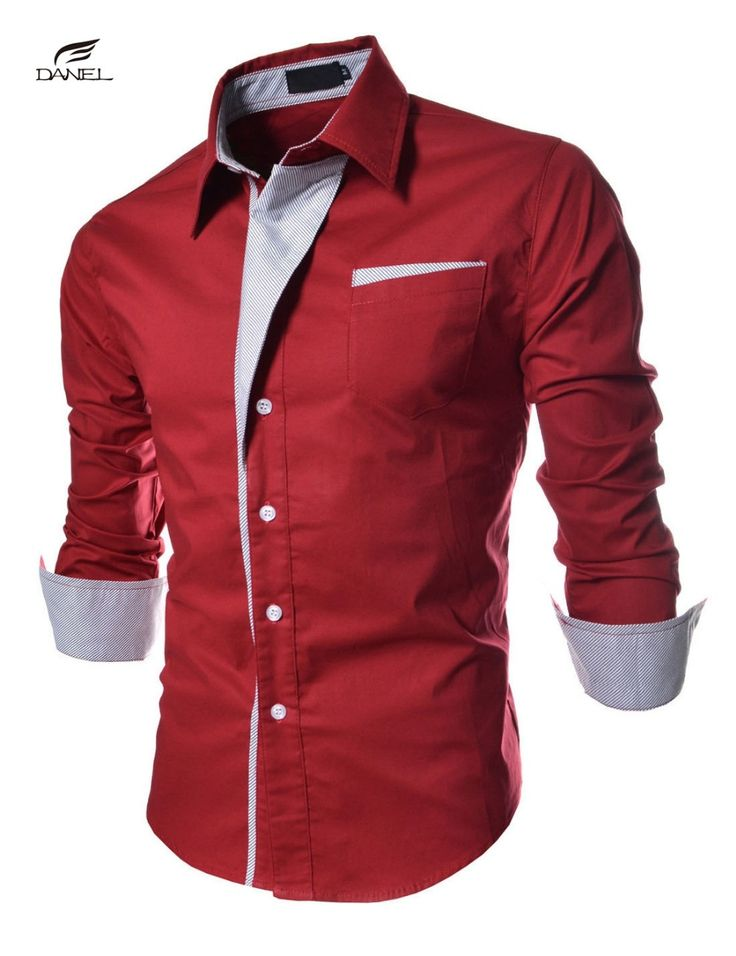 Find More Casual Shirts Information about Brand New Mens Formal Business Shirts Casual Slim Long Sleeve Dresse Shirts Camisa Masculina Casual Shirts Asian Size M 3XL,High Quality shirt texture,China shirt forms Suppliers, Cheap shirt different color collar from DANEL 008 Store on Aliexpress.com