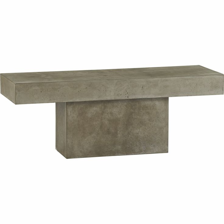 Fuze Grey Bench Used As A Coffee Table