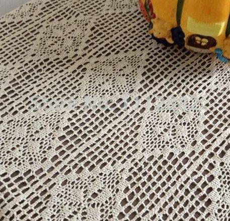 Крем - окрашенный крюк игла вязка крючком постельные принадлежности одеяло диван пианино крышка обеденный стол ткань деревенский прямоугольная скатерть