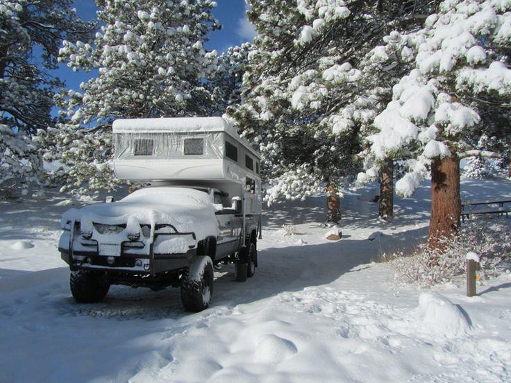 Moraine Park Campground, Estes Park, Colorado, 2001 Dodge 2500, 2015 Hallmark K2, http://www.truckcampermagazine.com/camper-lifestyle/announcing-the-2016-tcm-calendar-contest-winners