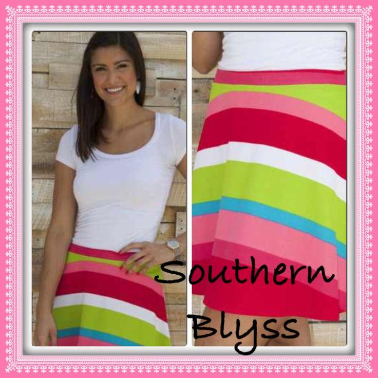 Fun color Skater Skirt! #skaterskirt  #southernblyss