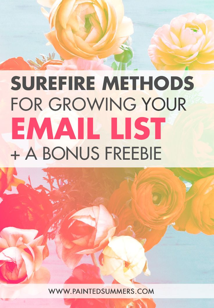 Surefire Methods for Growing Your Email List + A Bonus Freebie — Painted Summers