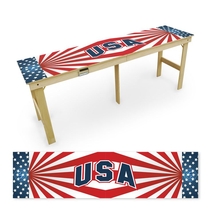 American Flag Tailgate Table