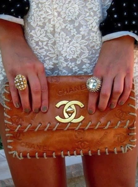 leather purse with rings