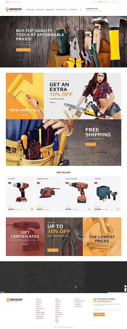 Tools website inspirations at your coffee break? Browse for more PrestaShop #templates! // Regular price: $139 // Sources available: .PSD, .PHP, .TPL #LastAdded #Tools #PrestaShop #online #shop #store #industrial #purchase #dealer #profile #products #air #accessories #special #motor #rent #tools #standard #master #pliers #advice #repair #drill #power #tool #lawn-mower #cordless #electric #cutting #dealership #gardening #automotive #clamps #remover #puller #devicesto