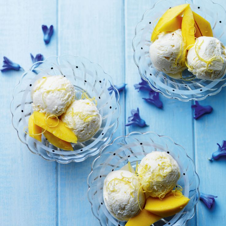So easy, you don't even need an ice cream maker to make this refreshing tropical fruit ice