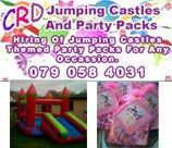 CRD Jumping Castles is situated in the Northdene area, creating party packs for every theme, be it, children's party or adult parties. They also hire out, clean, well - maintained jumping castles and water slides.