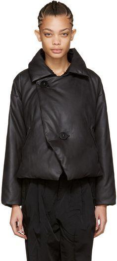 Issey Miyake: Black Down Lava Jacket | SSENSE