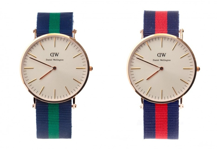 Two gorgeous watches. In my opinion would go great with a nice white cotton button up, a pair of dark blue slim fit Levis and a pair of brown suede Brogues, with no socks of course!  www.danielwellington.com