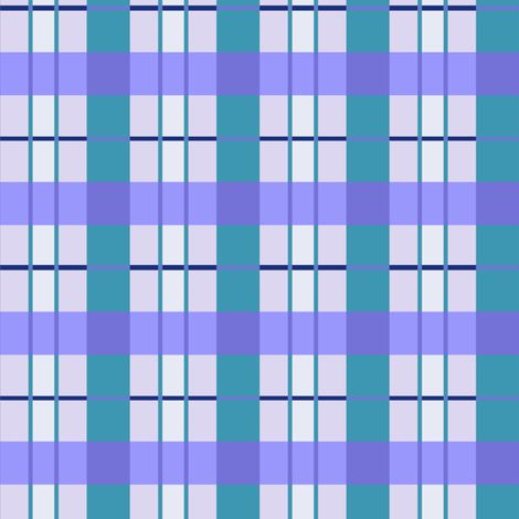 Blue Moss Check fabric by musingmeanders on Spoonflower - custom fabric #Spoonflower #SpoonflowerMaker #Fabric #SurfaceDesign #Fabric Design #InteriorDesign #botanicals #HomeDecor #Quilting #Sewing #FabricStash  #Blue #turquoise #violet #check #plaid