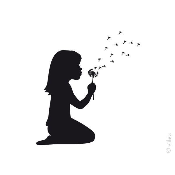 Die besten 17 ideen zu m dchen silhouette auf pinterest - Schattenbilder kinder ...