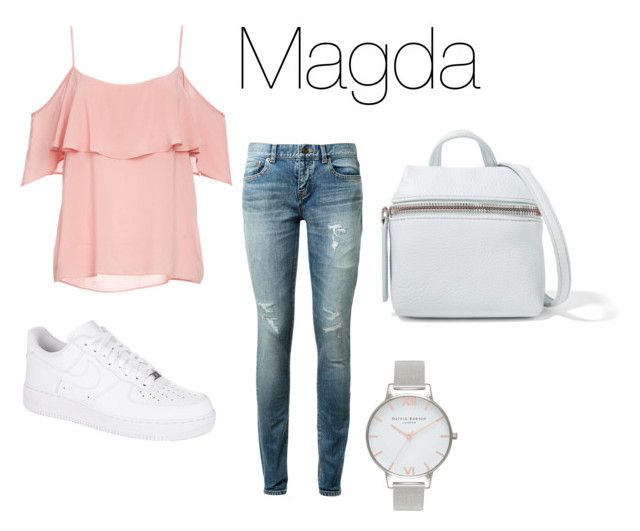 """Magda chłodne lato"" by patsythehunter on Polyvore featuring moda, BB Dakota, Yves Saint Laurent, NIKE, Olivia Burton i Kara"