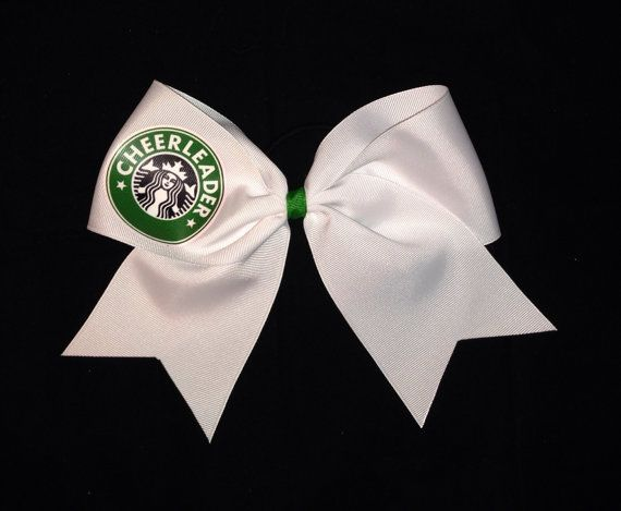 Cheer Bow by Justcheerbows on Etsy, $10.00 (Now I really want starbucks lol) Btw I really want more bows.