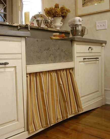 Skirted Sink Kitchen : skirted pull out drawer under kitchen sink by Lucianna Samu pantry ...