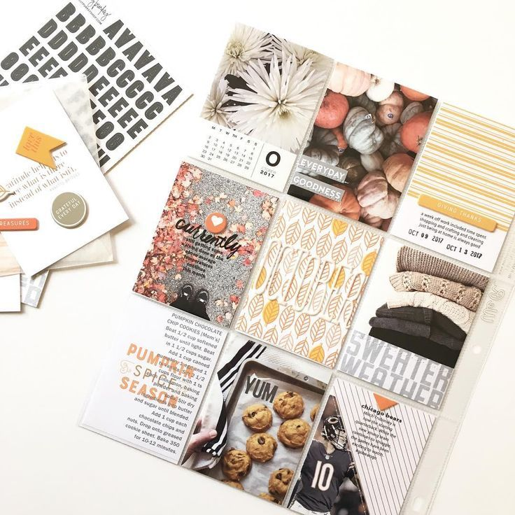 Project Life layout ideas - Inspiration for keeping a pocket scrapbook. Layouts for scrapbooking