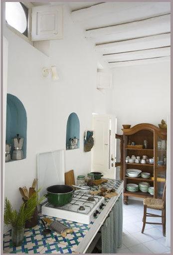 Mediterranean kitchen inspiration.