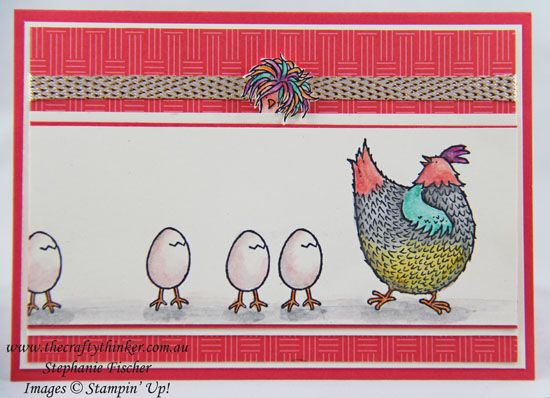 www.thecraftythinker.com.au, Sale-A-Bration, Hey Chick, #GDP070, #thecraftythinker, Stampin Up