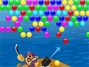 Free Online Puzzle Games, Sail the 7 seas all while blasting your cannon in Pirate's Bubbles!  Use your cannon to blast a colored bubble so that it forms a group of 3 or more similar colored bubbles!  See if you can clear out the whole level!, #bubble #bubble shooter