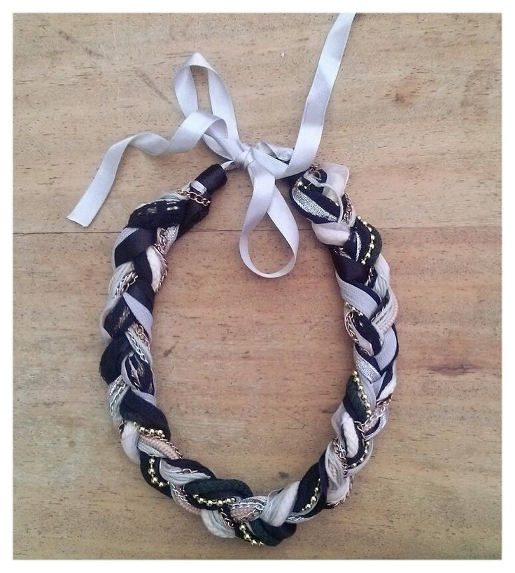 Braid Necklace with chains and laces