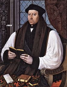 Thomas Cranmer (2 July 1489 – 21 March 1556) was a leader of the English Reformation and Archbishop of Canterbury during the reigns of Henry VIII, Edward VI and, for a short time, Mary I. He helped build the case for the annulment of Henry's marriage to Catherine of Aragon, which was one of the causes of the separation of the English