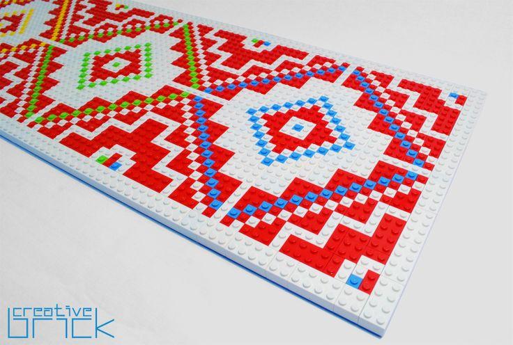 Around 2250 LEGO bricks used, Dimensions: 116 cm x 26,3 cm (45,6 inch x 10,2 inch) by www.creativebrick.ro