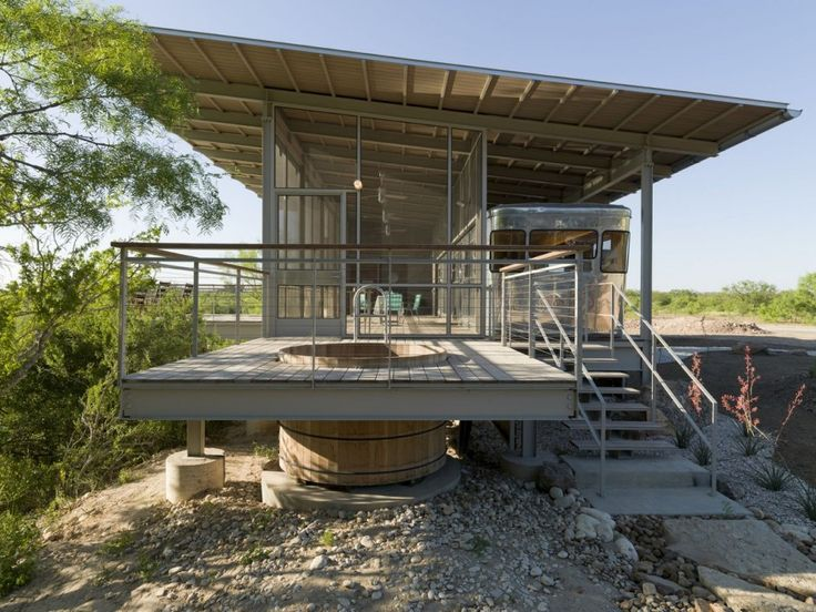ravishing tiny trailer house. Image 8 of 18 from gallery Locomotive Ranch Trailer Home  Andrew Hinman Architecture Photograph by Paul Bardigjy 16 best RV Enclosure images on Pinterest Small houses Tiny