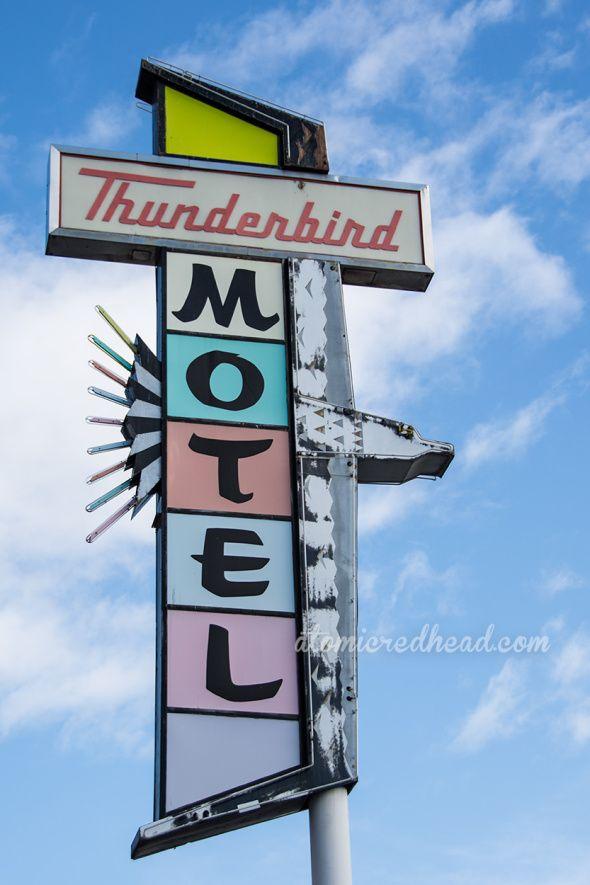 Thunderbird Motel   Reno, NV   Vintage Reno Signs   Atomic Redhead