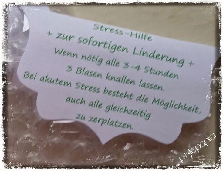 Pustepapier : Stress Hilfe
